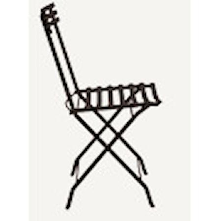 Flower folding stol - Svart
