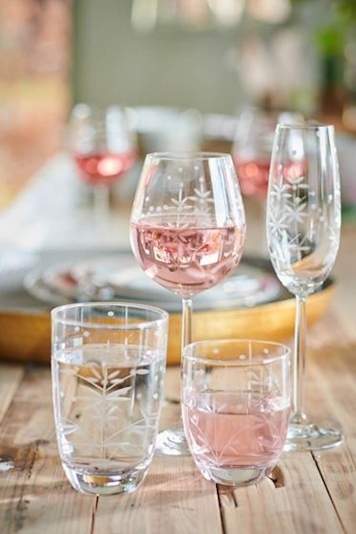 Basics Champagneglass Flute Etching 23 cl