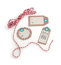 Cadeaulabels met touw Papier 12-pack
