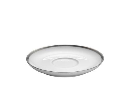 Bistro plato Cecil blanco/silver para taza 18 cl