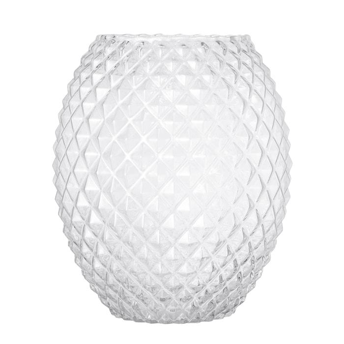 Vase Clear Glass Ø21x25 cm
