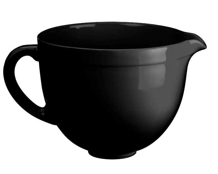 Artisan keraaminen kulho yleiskoneeseen, musta 4,8 L