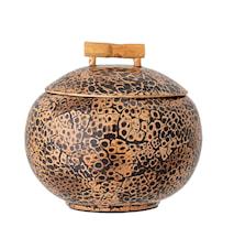 Krukke med lokk Brun Bambus