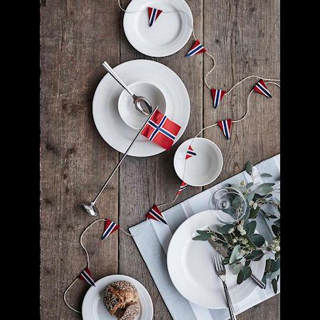 Bordsflagga norsk H35 silverfärgad