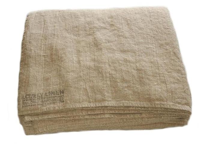 Lovely linen sengekappe – Natural beige, 290x290