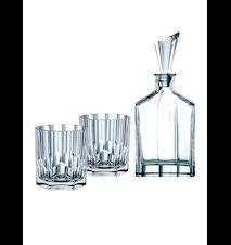 Aspen Whiskykaraff + 2 Whiskyglas