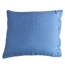 Lovely linen putetrekk – Denim blue, 50x60