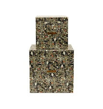 Förvaring, Blommigt mösnter, Set med 2 st, (16x16x16 cm) (22x22x22 cm)