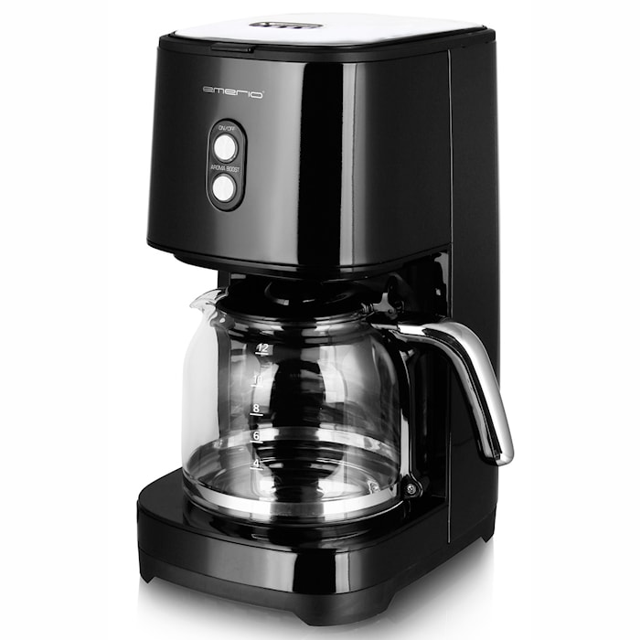 Emerio Kaffebryggare Retro Black 1,5l 900Watt