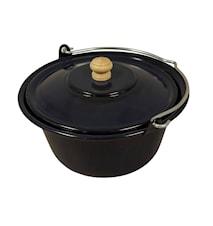 Keittopata kannella 10 litraa Emaljoitu Teräs