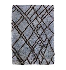 Woolen berber Teppe Grey/Blue 180x280 cm