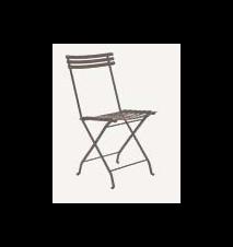 Flower folding stol - Lergrå