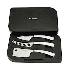 Latte Vivo cheese knives in Present Box Stainless Steel