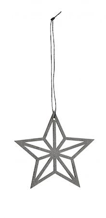 Julgransdekoration Star - Grå/Silver