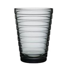 Aino Aalto glass 33 cl grå 2-pakk