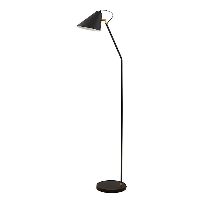 Floor Lamp Club Ø 20x130cm Black/White