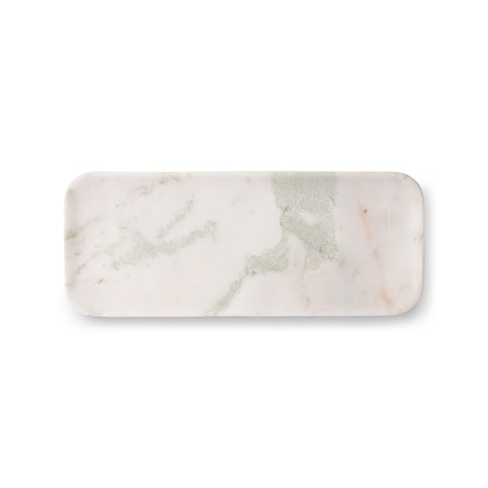 White/Green/Pink Marmor Bricka