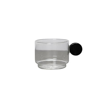 Kaffeglas Dot Svart