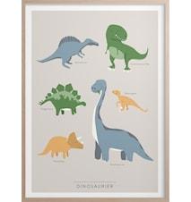 Dinosaur Poster 30x40 cm