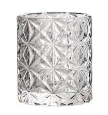 Värmeljushållare Grå Glas 8x9cm
