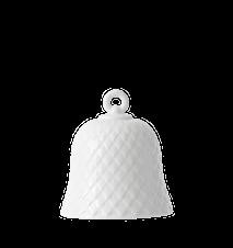 Rhombe Dekorasjonsur Ø7,5 Hvit Porselen