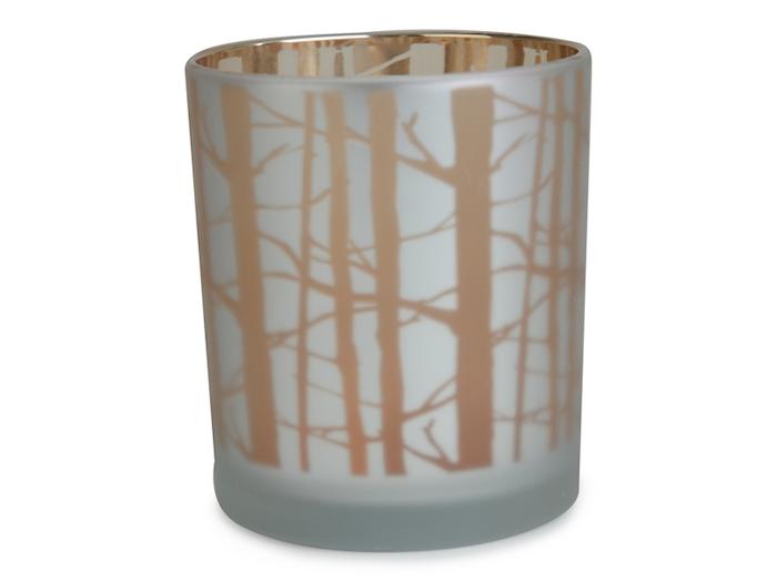 Skogsmys, lyslykt i glass