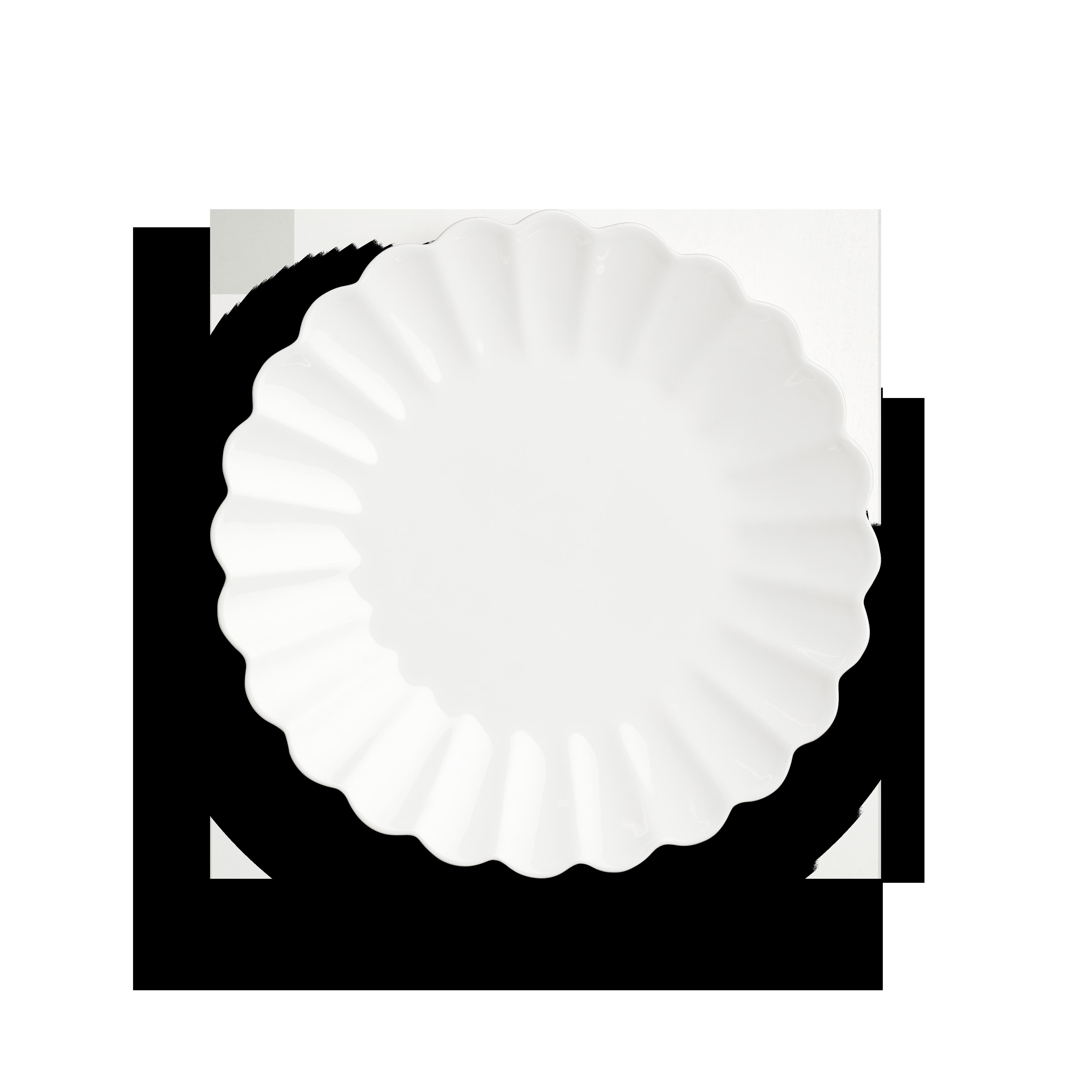Oyster Tallrik Vit 28 cm