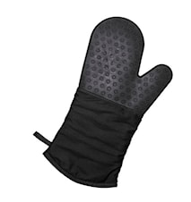 Oven glove with silicone