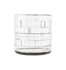 Kynttilälyhty Brooken Ø 10x10 cm - Kirkas
