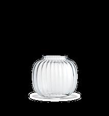 Primula Oval Vase Klar H 12,5 cm