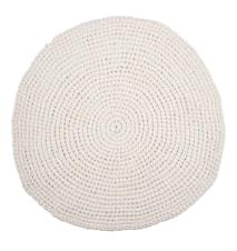 Crochet Matto Valkoinen Ø80 cm