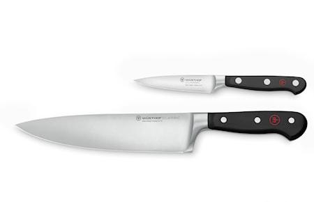 Knivset 2 Delar Kockkniv 20cm + Skalkniv 9cm