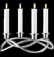 Maria Berntsen Season kynttilänjalka Kiiltävä Teräs
