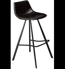 Pitch barstol – Svart/svart