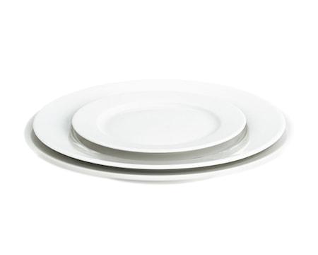 Sancerre tallerken flad hvid, Ø 17 cm