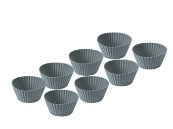 Muffinsform 8 st Grå Slikon