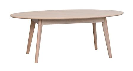 Yumi Soffbord Ovalt Vitpigmenterad Ek 130x65 cm