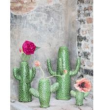 Kaktus Keramik Grön Small