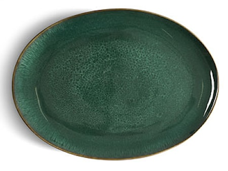 Fad oval sort/grøn Bitz
