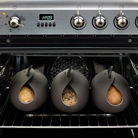 Bread Maker Bunke Silikon Svart