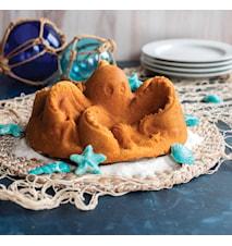Octopus kakform Blå