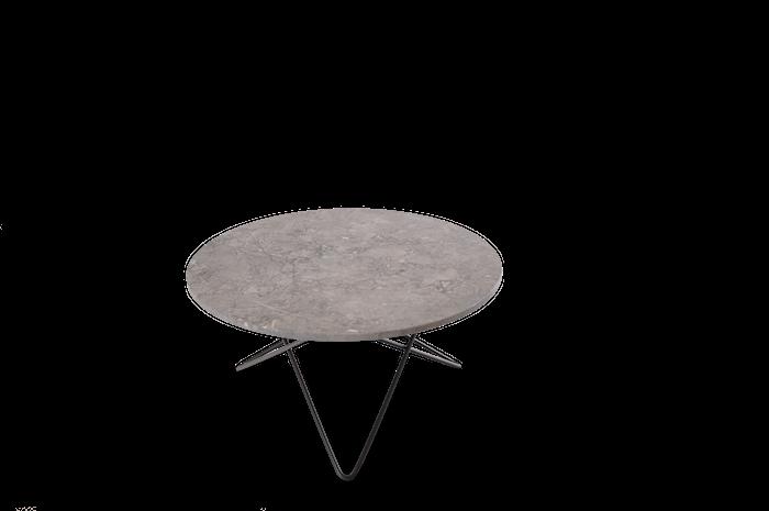 O Table Matbord Svart/Grå Marmor  Ø80
