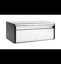 Brødkasse / med sorte sider Brilliant Steel
