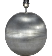 Globe Lampfot Blekt Silver 23cm