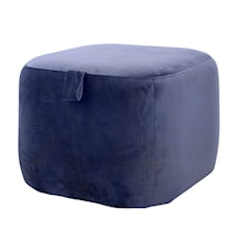 Bella Puff Blå Polyester 55x40x55cm