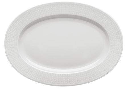Piatto ovale Swedish Grace neve 32 cm