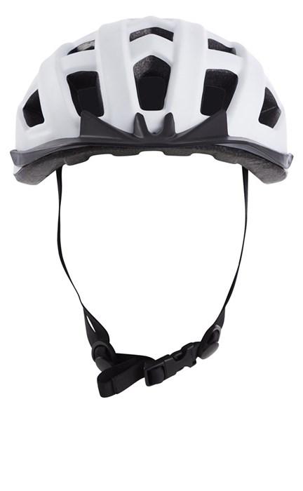 Cykelhjälm med baklykta Vit Medium