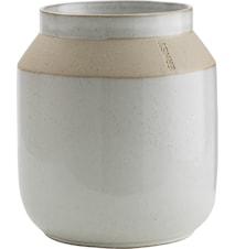 Glazed Vase with matte border