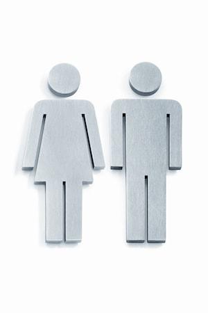 Dörr symbol Man/Kvinna INDICI 2-pack