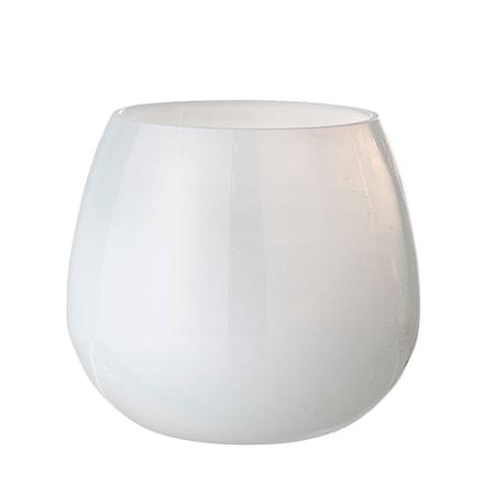 Ljuslykta Vit Återvunnet Glas